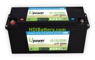 Batería para buggie de golf 12V 200Ah Upower Ecoline UE-12Li200BL