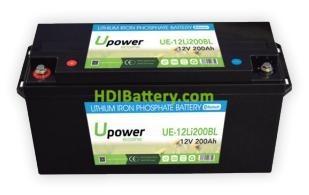 Batería para carro de golf 12V 200Ah Upower Ecoline UE-12Li200BL