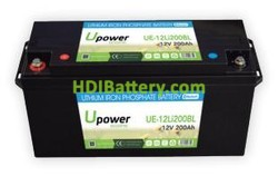 Batería para vehículo eléctrico 12V 200Ah Upower Ecoline UE-12Li200BL