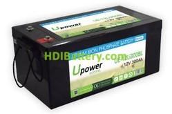 Batería para scooter eléctrica 12V 300Ah Upower Ecoline UE-12Li300BL