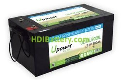Batería para silla de ruedas 12V 300Ah Upower Ecoline UE-12Li300BL