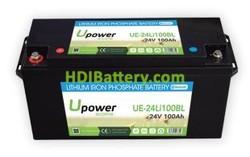 Batería para vehículo eléctrico 24V 100Ah Upower Ecoline UE-24Li100BL