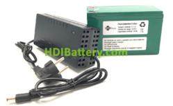 Batería Pack Litio ion Samsung 11,1V 14Ah + BMS + Cargador 12,6V 3A