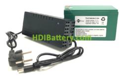 Batería Pack Litio ion Samsung 11,1V 7Ah + BMS + Cargador 12,6V 1A