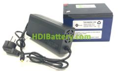Batería Pack Litio ion Samsung 24V 11,6Ah + BMS + Cargador 29,4V 2A