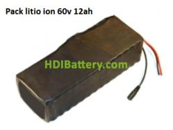 Batería Pack Litio ion Samsung 60V 12AH + BMS