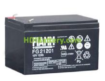 Batería para alarma 12V 12Ah Fiamm FG21201