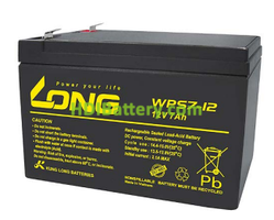 Batería para alarma 12V 7Ah Long WPS7-12