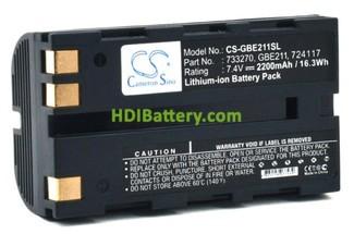 Batería para aparatos de medición 7.4V 2200mAh Leica ATX1200