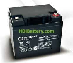 Batería para apiladora 12V 50Ah Q-Batteries 12LCP-50