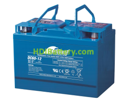 Batería para apiladora 12V 60Ah Fullriver DC60-12A