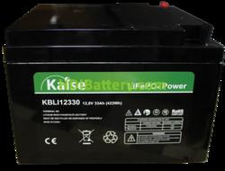 Batería para aplicaciones solares LiFePO4 12.8 Voltios 33 Amperios Kaise KBLI12330 166x175x125 mm