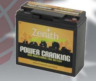 Batería para arrancador AGM 12v 20ah ZENITH ZPC120020 181mm (L) x 77mm (An) x 167mm (Al)