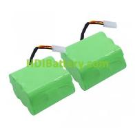 Batería para aspirador 7.2V 3,5Ah 69x58,5x32,5mm (2 Unidades)