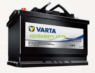 Batería Varta Professional Dual Purpose 12v 75Ah 600A LFS75 260 x 175 x 225 mm