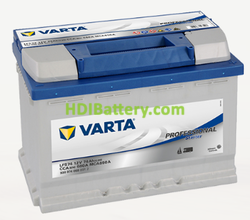 Batería para barco Varta Professional Starter 12v 74Ah 680A LFS74 278 x 175 x 190 mm