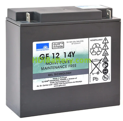 Batería para barredora 12V 14Ah Gel Sonnenschein GF12014YF
