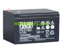 Batería para bicicleta eléctrica 12V 12Ah Fiamm FG21201