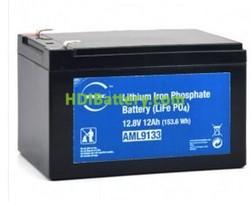 Batería para bicicleta eléctrica LiFePO4 12V 12Ah NX