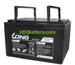 Batería para buggie de golf 12V 100Ah Long LGK100-12N