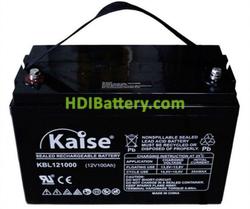 Batería para caravana 12V 100Ah Kaise KBL121000