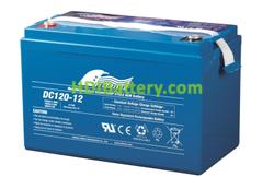 Batería para caravana 12V 120Ah Fullriver DC120-12B