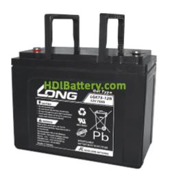 Batería para caravana 12V 75Ah Long LGK75-12N