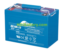 Batería para carro de golf 12V 105Ah Fullriver DC105-12
