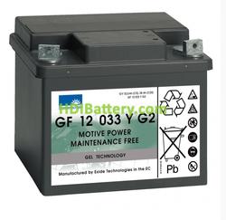Batería para carro de golf 12V 33Ah Gel Sonnenschein GF12033YG2