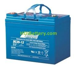 Batería para carro de golf 12V 35Ah Fullriver DC35-12A