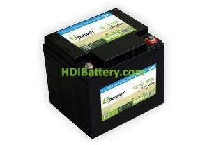 Batería para carro de golf 12V 50Ah Upower Ecoline UE-12Li50BL
