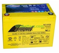 Batería para coche AGM 14V 25Ah Fullriver HC14V25