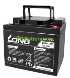 Batería para electromedicina 12V 50Ah Long LG50-12N