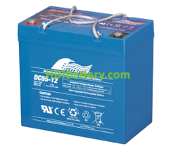 Batería para electromedicina 12V 55Ah Fullriver DC55-12