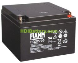 Batería para elevador 12V 27Ah Fiamm FG22703