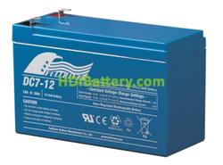 Batería para patín eléctrico 12V 7Ah Fullriver DC7-12