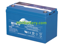 Batería para grúa ortopedia 12V 115Ah Fullriver DC115-12A