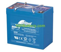 Batería para grúa ortopedia 12V 55Ah Fullriver DC55-12