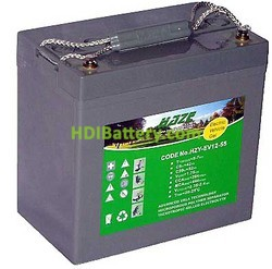 Batería para grúa ortopedia 12V 55Ah GEL HAZE HZY-EV12-55