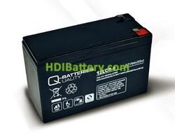 Batería para grúa ortopedia 12V 9Ah 12LCP-9 Q-Batteries
