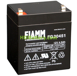Batería para luces de emergencia 12V 4.5Ah Fiamm FG20451