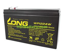 Batería para luces de emergencia 12V 6Ah Long WP1224W