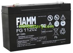 Batería para luces de emergencia 6 Voltios 12Ah FG11202 FIAMM