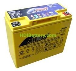Batería para moto 12V 20Ah Fullriver HC20