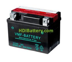 Batería para moto AGM VMF YTX4LBS 12v 3ah 112x70x85 mm