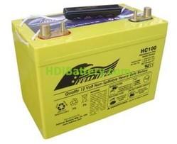 Batería para moto de nieve 12V 100Ah Fullriver HC100