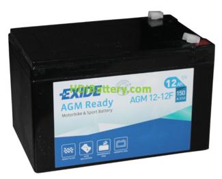 Batería para moto Exide AGM12-12F 12 Voltios 12 Amperios