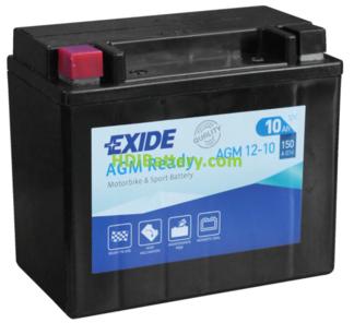 Batería para moto Exide AGM12-12M 12 Voltios 12 Amperios