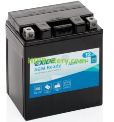 Batería para moto Exide AGM12-14 12 Voltios 12 Amperios