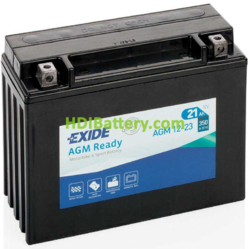 Batería para moto Exide AGM12-23 12 Voltios 23 Amperios